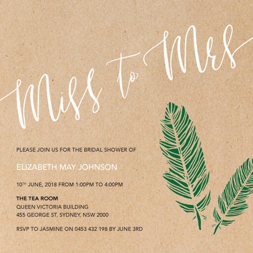 Miss to Mrs - Bridal Shower Invitations