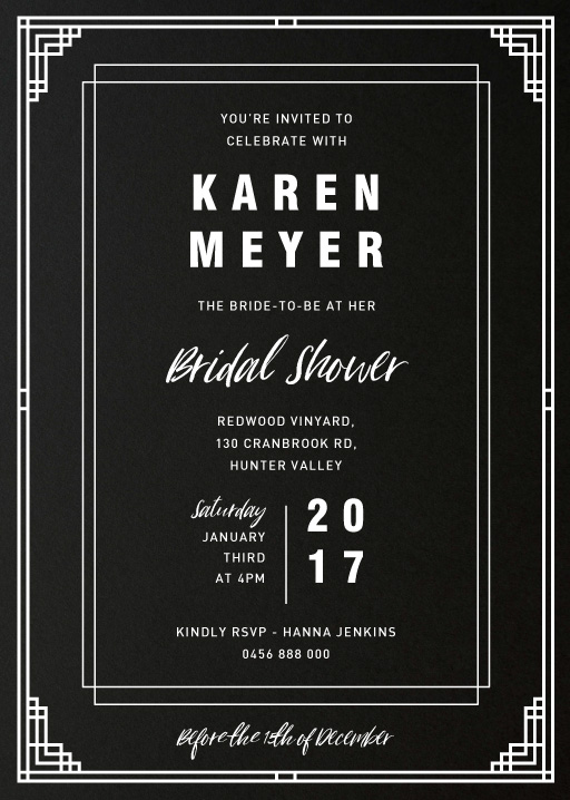 Sophisticated Bride-to-be - Bridal Shower Invitations