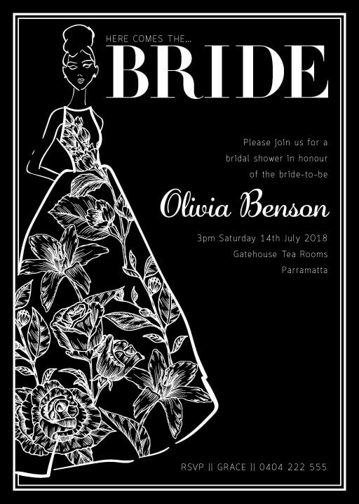 Vogue Bride - Bridal Shower Invitations