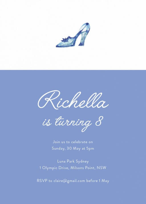 Cinderella's Story - Birthday Invitations