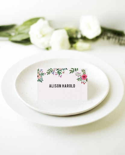 Flos Paradisi - Place Cards