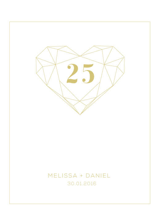 Diamond Love - Table Numbers