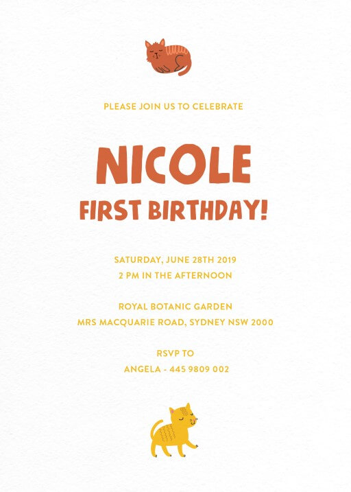 We are Kittens - Birthday Invitations