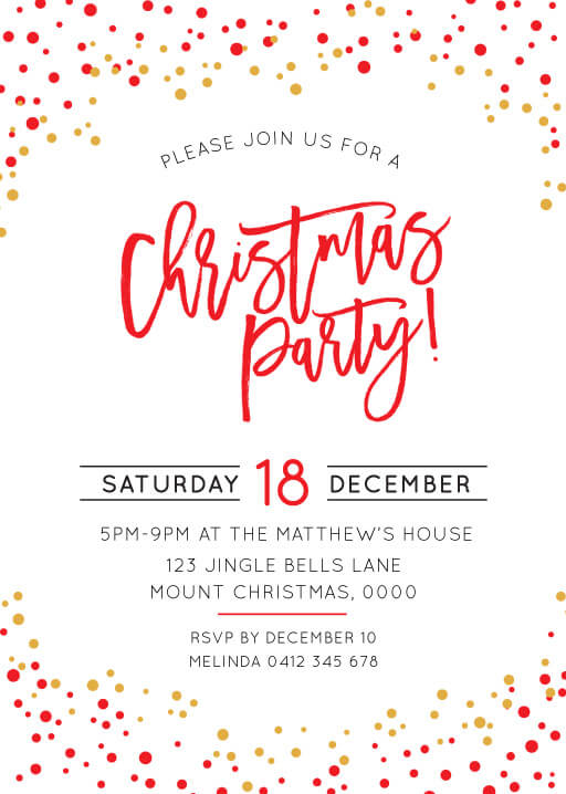 FESTIVE CHRISTMAS... | FS | Christmas Party Invitations