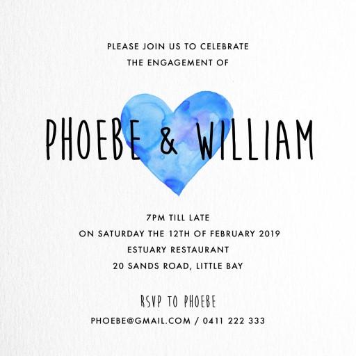 i heart you - Engagement Invitations