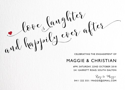 happily ever after - Engagement Invitations