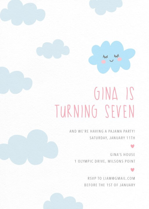 Sleepover - Birthday Invitations