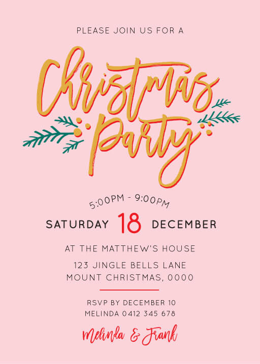 Christmas party invitations independent designs festive christmas party christmas party invitations stopboris Gallery
