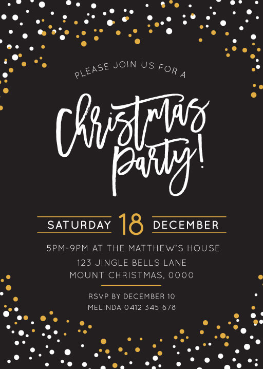 christmas party invitations independent designs