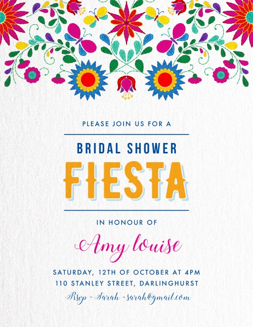 Fiesta - Bridal Shower Invitations