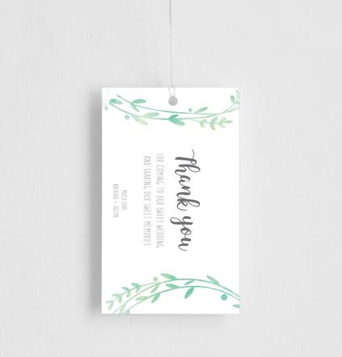 Leaf Wreath - gift tags