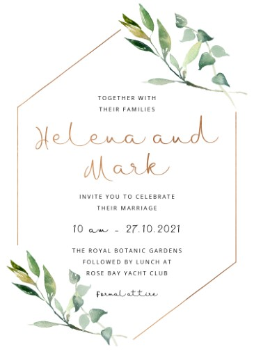 Garden Window - Wedding Invitations
