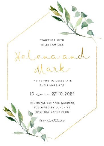 Garden Window - Wedding Invitations