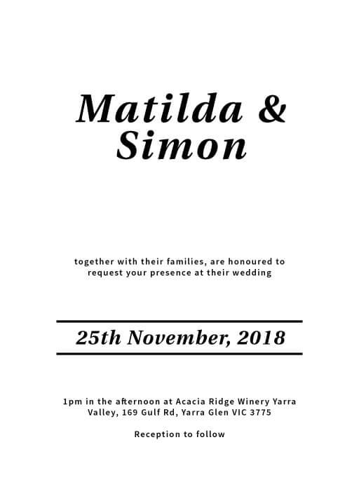 Classic Serif - Wedding Invitations