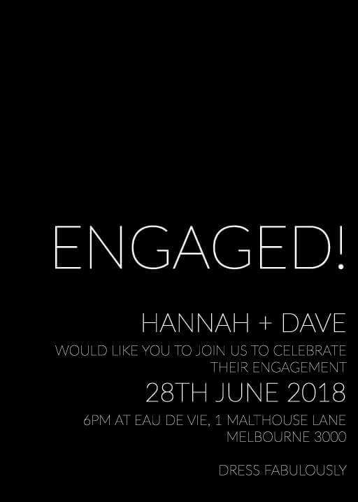 Narrow - Engagement Invitations