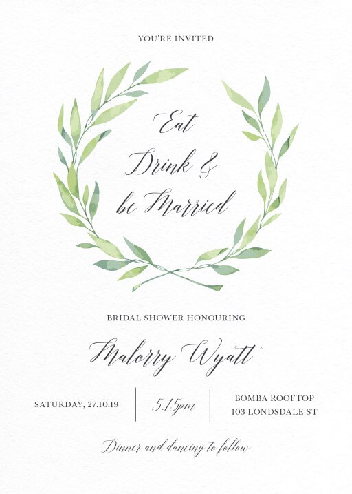 Noel - Bridal Shower Invitations