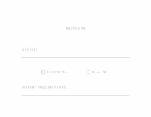 Type - RSVP Cards