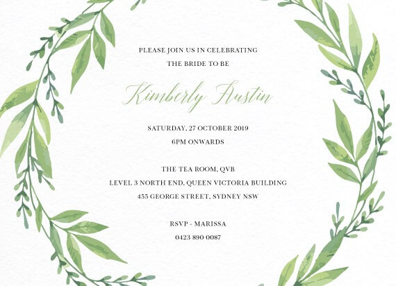 Holly Ivy - bridal shower invitations
