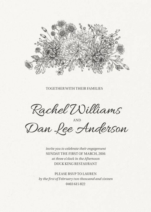 Bluemchen - Engagement Invitations