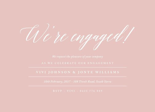 Pastel Script - Engagement Invitations
