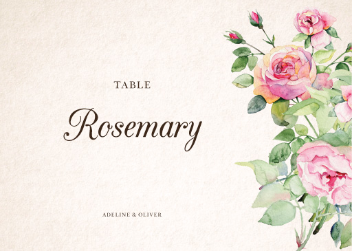 Good Spring - table numbers