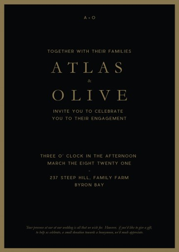 Another Kate Laura - Engagement Invitations