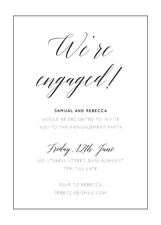 On the Day - Engagement Invitations