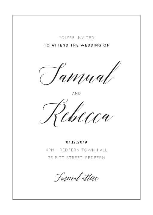 On the Day - Wedding Invitations