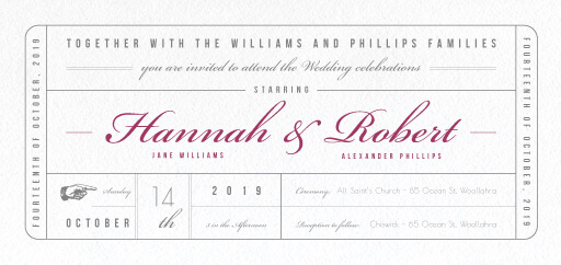 Movie Theatre - Wedding Invitations