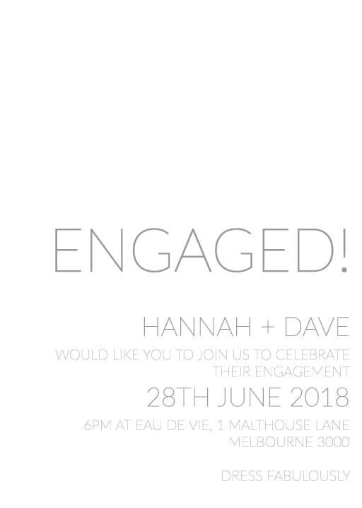 Narrow - Engagement Invitations