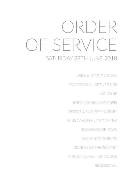 Narrow - Order of Service