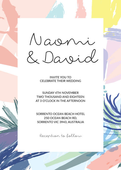 Tropical Pastel - Wedding Invitations