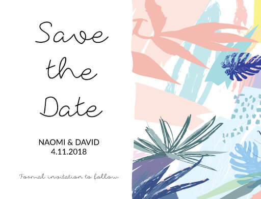 Tropical Pastel - Save The Date