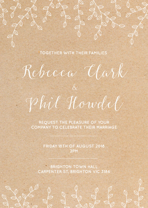 Rustic Romance - Wedding Invitations