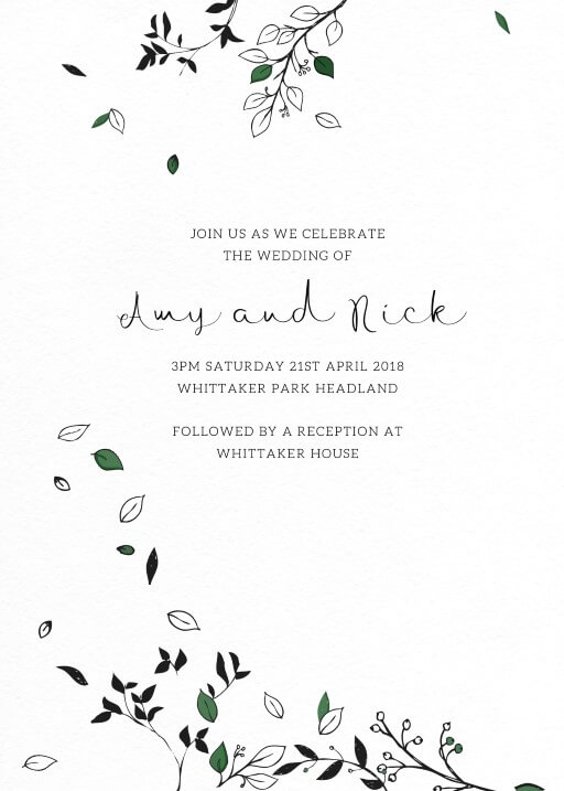 Free Falling - Wedding Invitations