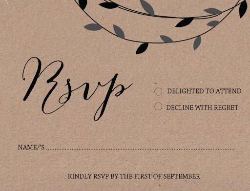 September - RSVP Cards