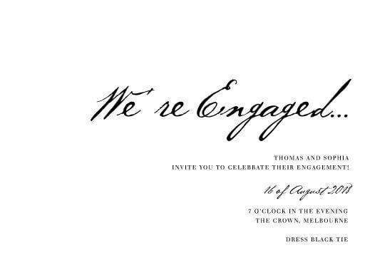 Engagement party invitations design it online paperlust simple script engagement invitations stopboris Images