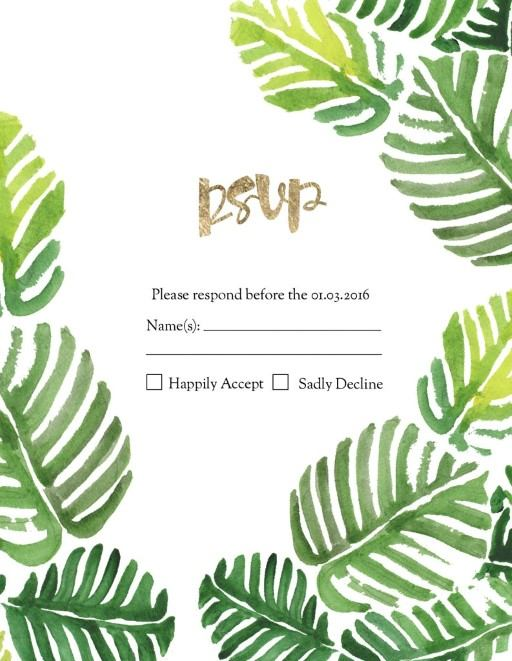 Palmy - RSVP Cards