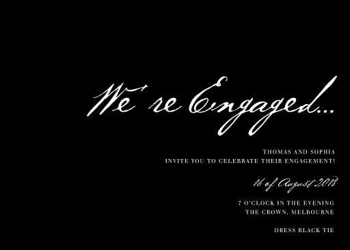 Simple Script - Engagement Invitations