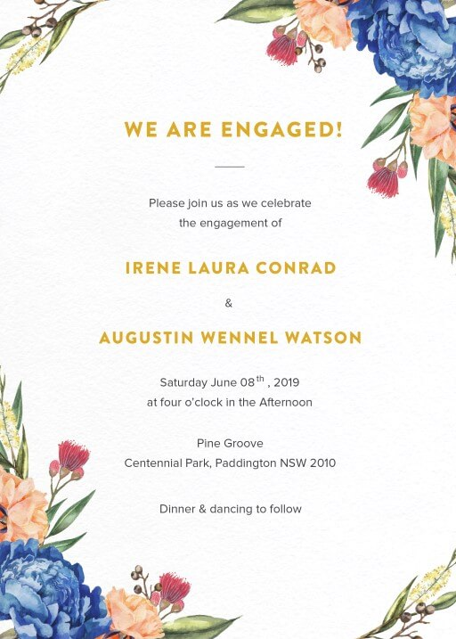 Garden Party - Engagement Invitations