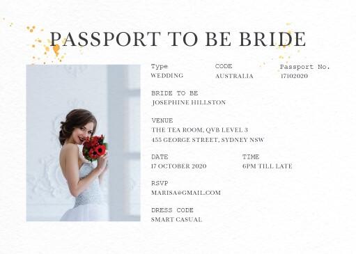 The Passport - bridal shower invitations