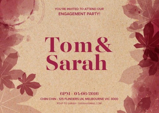 Secret Vineyard - Engagement Invitations