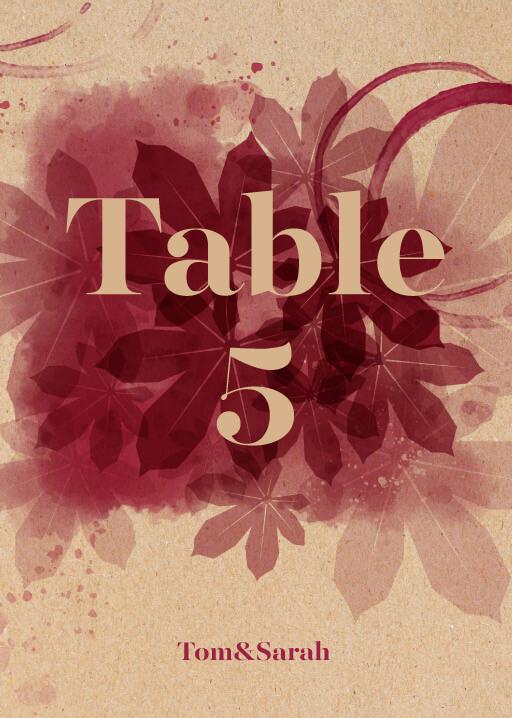 Secret Vineyard - Table Numbers