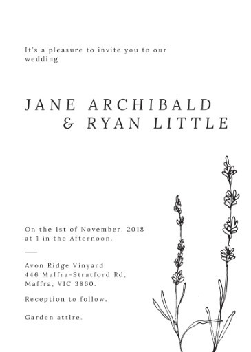 Delicate Lavender - Wedding Invitations