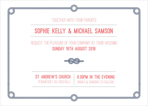 Tie the knot - Wedding Invitations