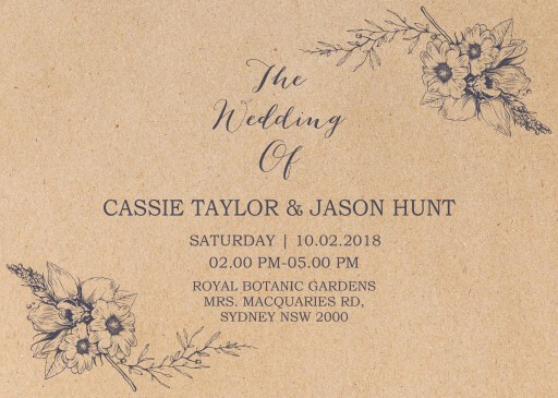Chic n Rustic - Wedding Invitations