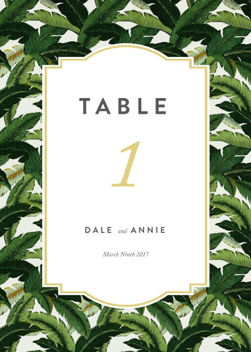 Beverly Hills Hotel - table numbers