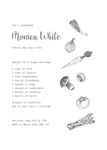 Delizioso - bridal shower invitations