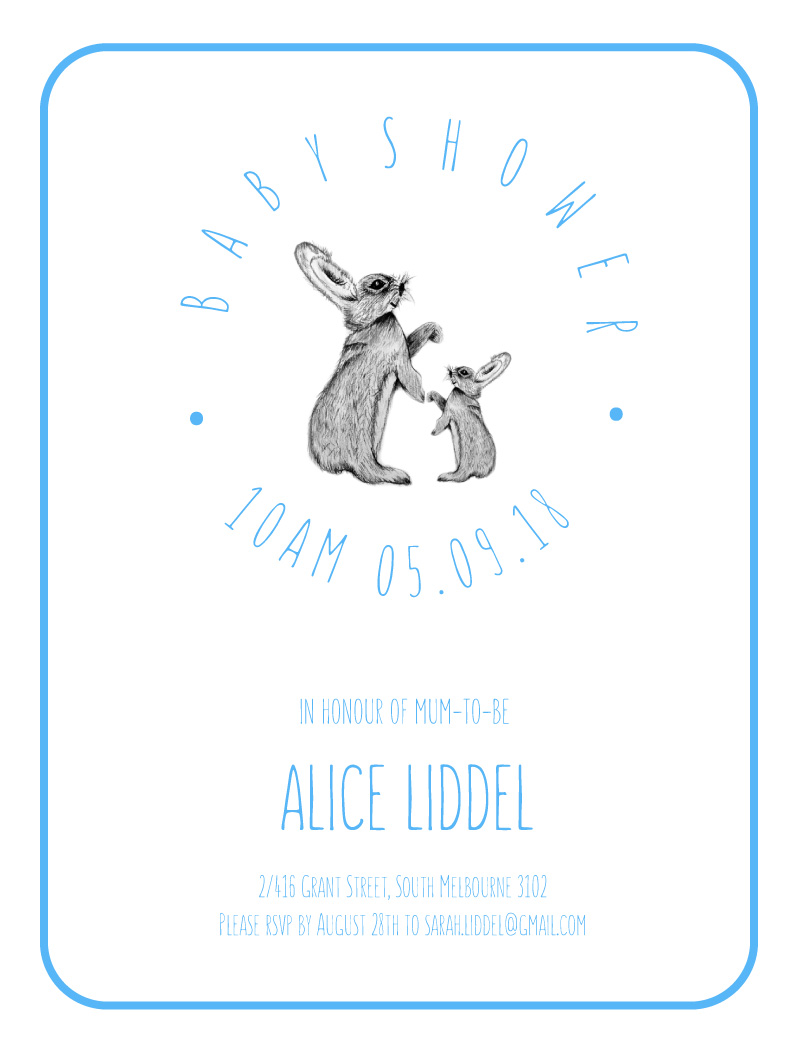 Baby Bunny | Digital Printing | Baby Shower Invitations