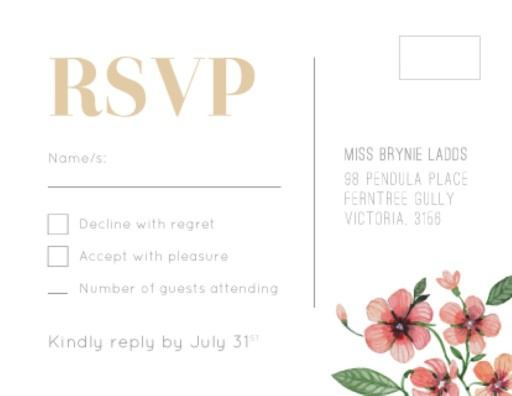 Rsvp Cards Australias Best Local Designs – Wording for Wedding Rsvp Cards
